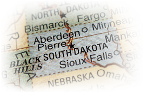map of South Dakota area